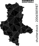 low poly saxony anhalt land map.... | Shutterstock .eps vector #2006585987