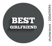 best girlfriend sign icon.... | Shutterstock .eps vector #200659094