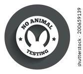 no animals testing sign icon....