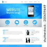website design template with...