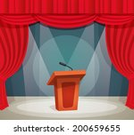 tribune with microphone in... | Shutterstock .eps vector #200659655