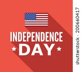 independence day of the untied... | Shutterstock .eps vector #200660417