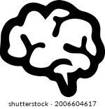 brain vector icon eps 10.... | Shutterstock .eps vector #2006604617