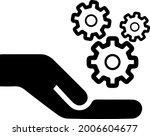 gears in hand vector icon eps... | Shutterstock .eps vector #2006604677