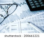 showing business and financial... | Shutterstock . vector #200661221