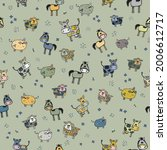 vector repeat pattern of... | Shutterstock .eps vector #2006612717