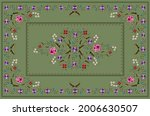 Greenish Embroidered Tablecloth ...