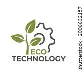 eco technology icon. eco... | Shutterstock .eps vector #2006632157