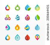 water drop symbol vector icon... | Shutterstock .eps vector #200664431