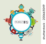 robot design over beige... | Shutterstock .eps vector #200665049