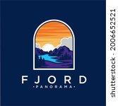 fjord panorama patch logo...   Shutterstock .eps vector #2006652521