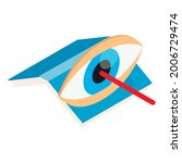 laser surgery icon. isometric...   Shutterstock .eps vector #2006729474