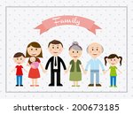 family design over dotted ... | Shutterstock .eps vector #200673185
