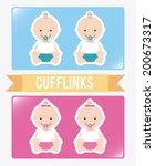 baby design over white... | Shutterstock .eps vector #200673317