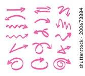 vector hand drawn arrows | Shutterstock .eps vector #200673884