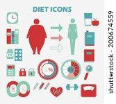 info graphics health diet.... | Shutterstock .eps vector #200674559