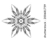 sketch of tattoo as shuriken on ... | Shutterstock .eps vector #200681759