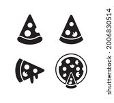 pizza icon set collection...
