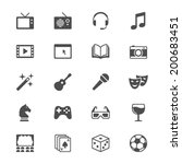 entertainment flat icons | Shutterstock .eps vector #200683451