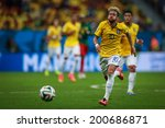 ������, ������: Neymar of Brazil competes