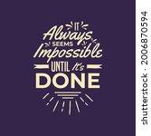 it always seem's impossible... | Shutterstock .eps vector #2006870594