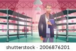 businessman in warehouse with...   Shutterstock .eps vector #2006876201