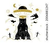 dark gothic illustration of a... | Shutterstock .eps vector #2006881247