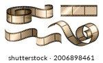 movie film strip. cinema... | Shutterstock .eps vector #2006898461
