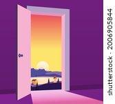 open door to nature way.... | Shutterstock .eps vector #2006905844