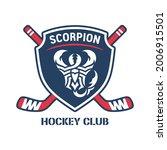 scorpion hockey club logo.... | Shutterstock .eps vector #2006915501
