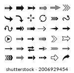 arrow icon. direction sign ... | Shutterstock .eps vector #2006929454
