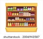 supermarket shelves with... | Shutterstock .eps vector #2006943587