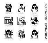 vaccination icons set glyph... | Shutterstock .eps vector #2006960471