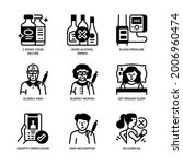 vaccination icons set glyph... | Shutterstock .eps vector #2006960474