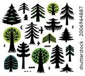 tree silhouette on white... | Shutterstock .eps vector #2006964887