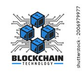 blockchain technology icon ...   Shutterstock .eps vector #2006979977