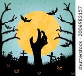 halloween background with... | Shutterstock .eps vector #2006983157