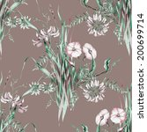 wild flowers seamless pattern | Shutterstock . vector #200699714