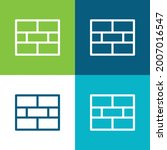 brick wall flat four color...   Shutterstock .eps vector #2007016547