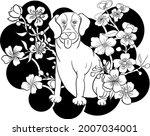 dog illustration for printing...   Shutterstock .eps vector #2007034001