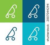 baby stroller of rounded design ... | Shutterstock .eps vector #2007044294