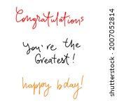 cangratulations  you are great  ...   Shutterstock .eps vector #2007052814