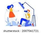 photo studio web concept....   Shutterstock .eps vector #2007061721