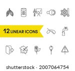 package icons set with oil ...