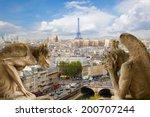 gargoyle on notre dame... | Shutterstock . vector #200707244
