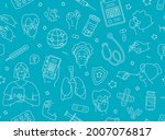 young adult seniors patients at ...   Shutterstock .eps vector #2007076817