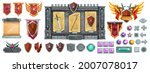 medieval game interface vector... | Shutterstock .eps vector #2007078017