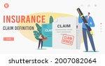 insurance claim definition... | Shutterstock .eps vector #2007082064