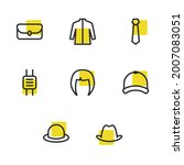 clothing icons set with smart...