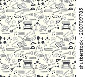 seamless pattern with scribbled ... | Shutterstock .eps vector #200709785